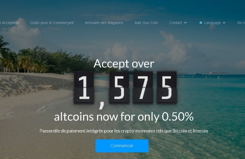 CoinPayments main page