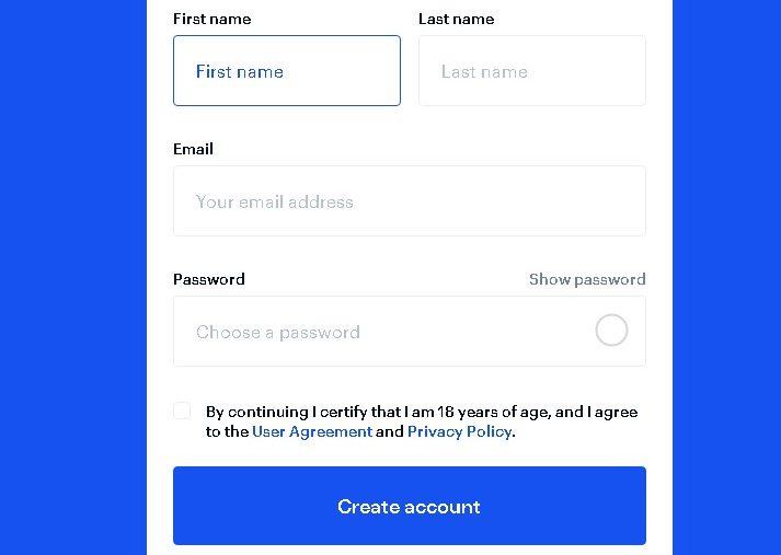 Commencez par créer votre compte sur Coinbase