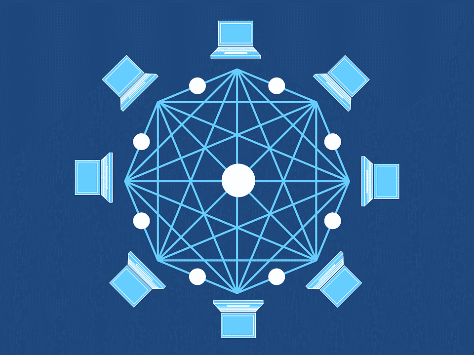 Fonctionnement du réseau de la blockchain