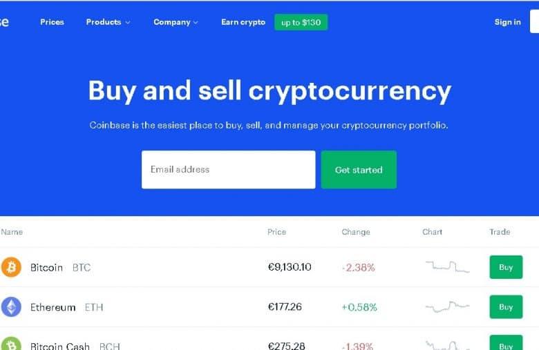 Idéale pour les débutants, la plateforme Coinbase est très populaire