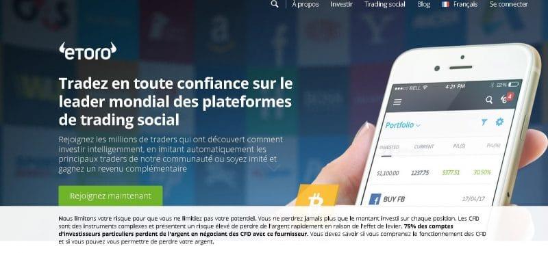 eToro est une plateforme vous permettant d'acheter de l'Ethereum avec PayPal