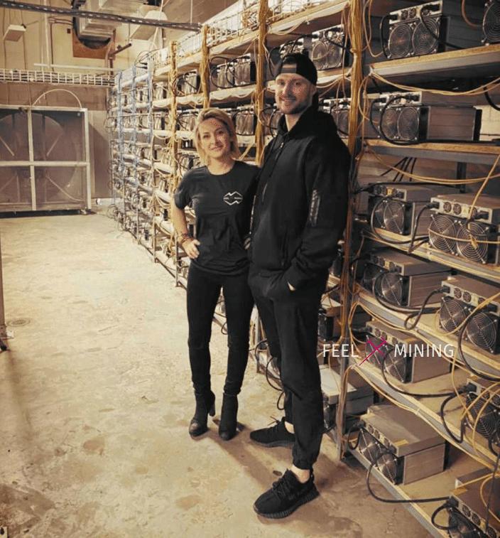 Cloé Desensfans, PDG de Feel Mining dans les installations de minage de Bitcoin au Canada
