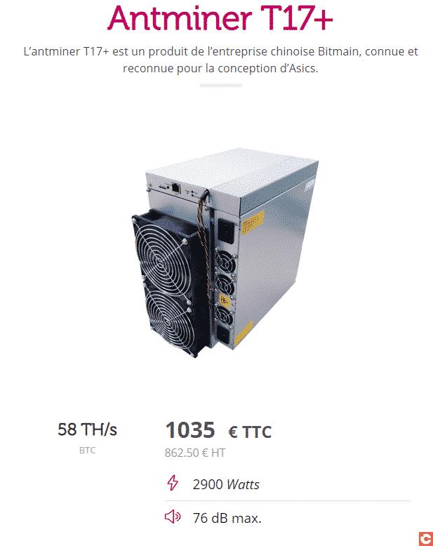 Le Antminer T17+ à moins de 1000 euros