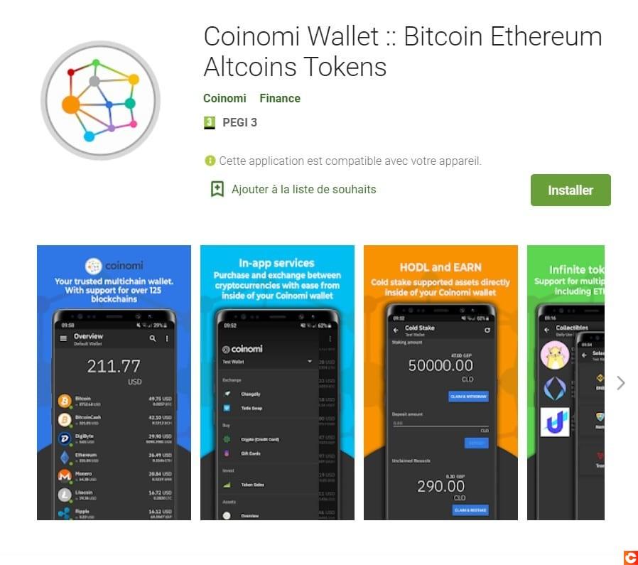 L'application Coinomi, idéale pour stocker vos Bitcoin Cash (BCH)