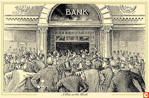 The Bank Run, not really a modern phenomenon ...