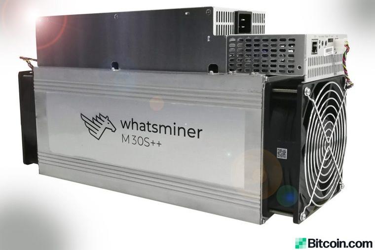 Le mineur de Bitcoin MicroBT Whasminer M30S++