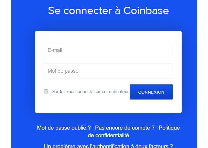 Se connecter à Coinbase