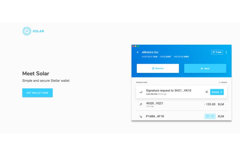 L'application Solar Wallet