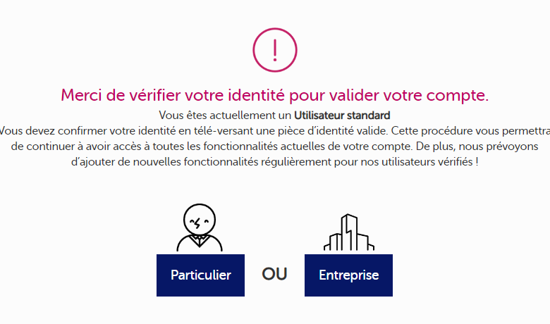 The KYC feel mining procedure, necessary for setting up a transfer in euros to a French account