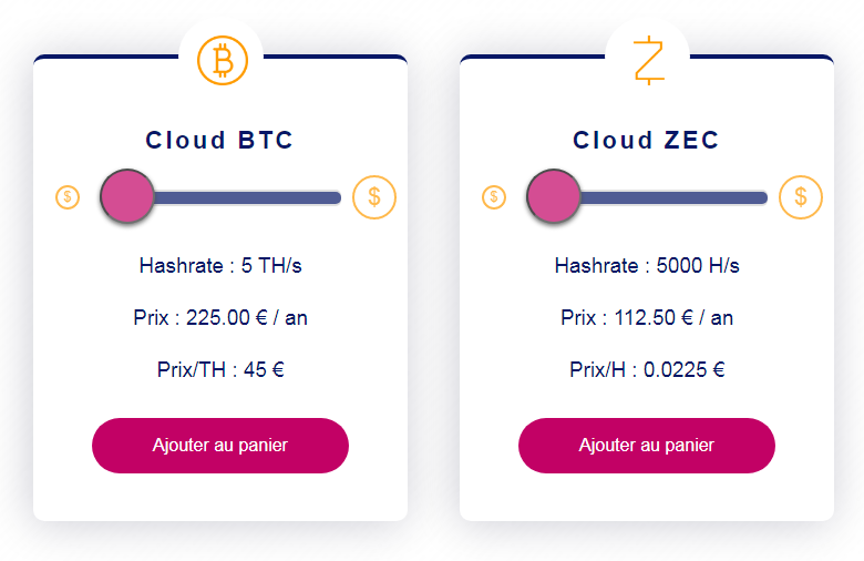 Le cloud mining de Feel Mining