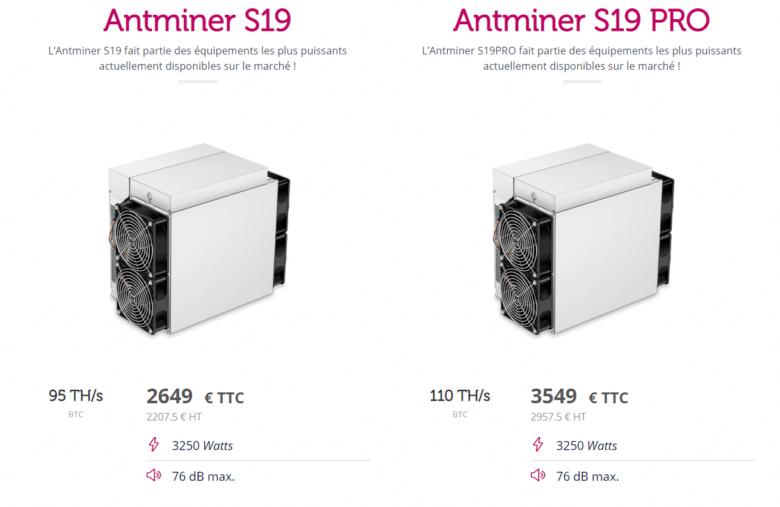 Les Antminers S19 et S19PRO de Antminer proposés par Feel Mining