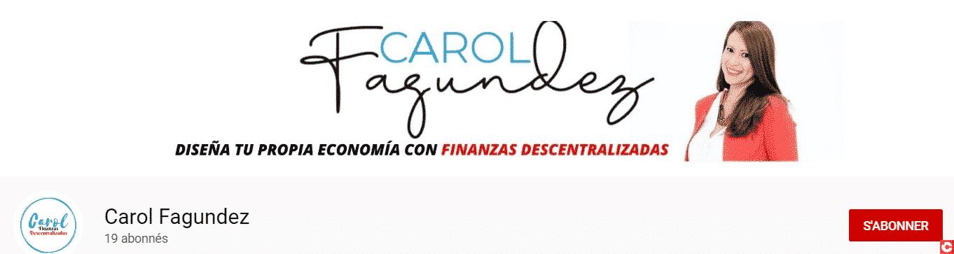 Chaîne YouTube de Carolina Fagundez