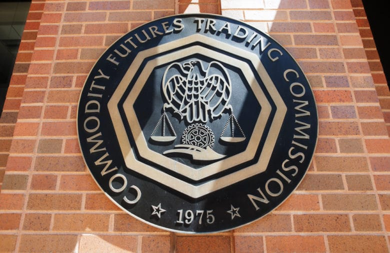 Logo of the CFTC, an organization closely interested in cryptocurrencies and Bitcoin