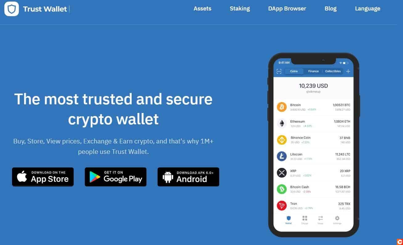 Trust Wallet, le portefeuille officiel de Binance