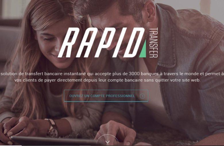 Faites un paiement immédiat avec Rapid Transfer !