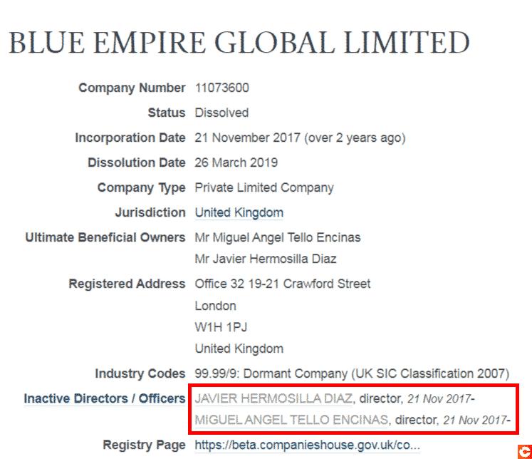 Informations concernant la société Blue Empire
