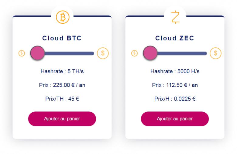 Les offres de minage cloud de BTC et ZEC de Feel Mining