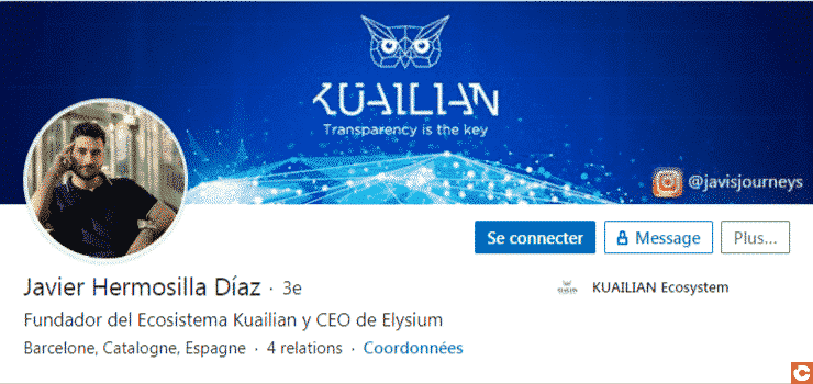 LinkedIn de Javier Hermosilla Diaz, fondateurde Kuailian