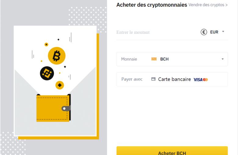 L'achat de Bitcoin Cash par CB sur Binance est le plus rapide