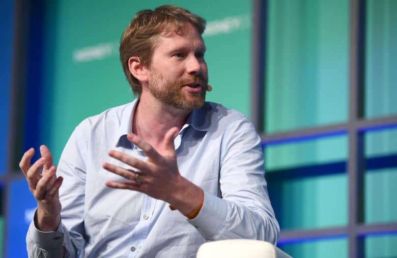 Eric Larcheveque, Co-fondateur de Ledger lors d'une conférence.