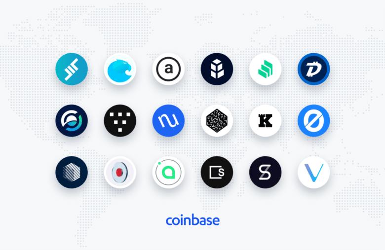 Les 18 nouvelles cryptomonnaies bientôt sur Coinbase