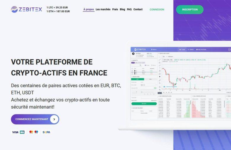 La plateforme Zebitex pour acheter, vendre, échanger du Bitcoin et des cryptoactifs