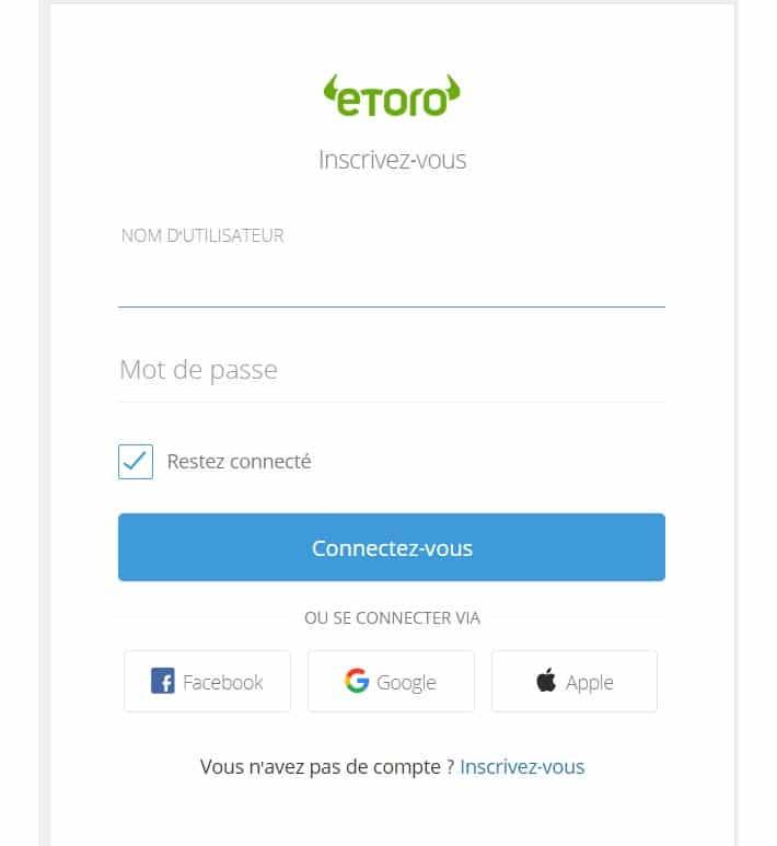 Se connecter sur eToro est très rapide