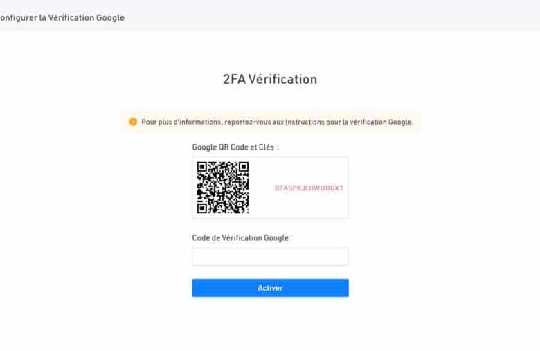 Google Authenticator est l'application utilisée par défaut pour la 2FA