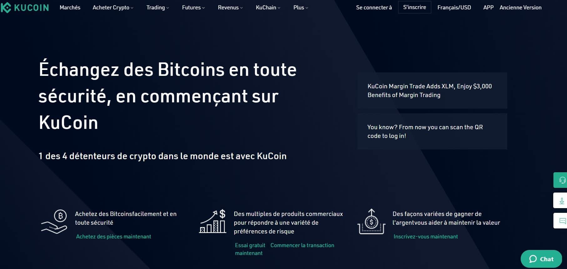 KuCoin est principalement une plateforme d'échange