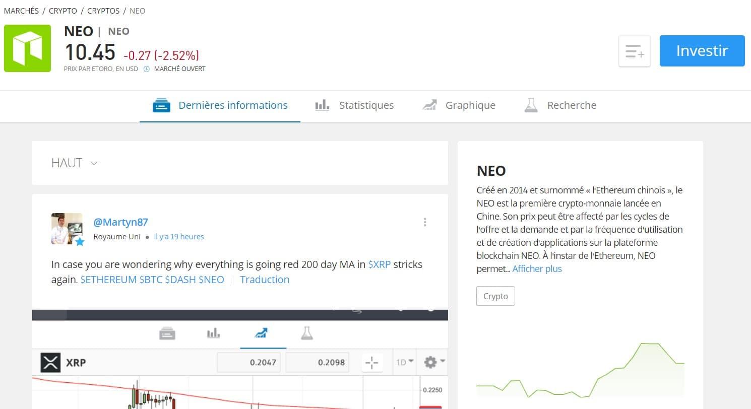 Sur cette page se trouvent beaucoup d'informations sur la cryptomonnaie