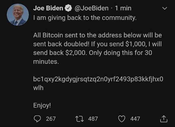 Joe Biden le soutien