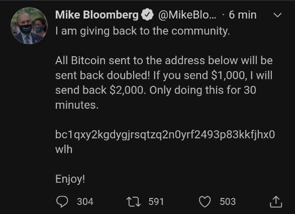 Bloomberg lui n'hésite pas !