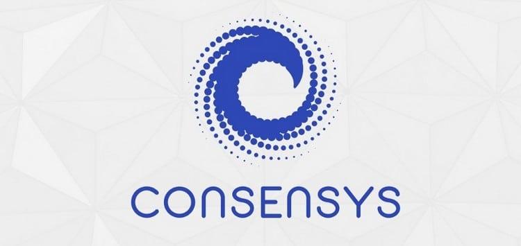 Logo de ConsenSys, acteur qui fait tout son possible pour la sortie et le succès de Ethereum 2.0
