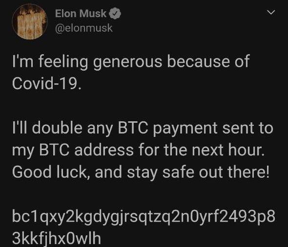 Elon Musk organise un giveaway malgré lui