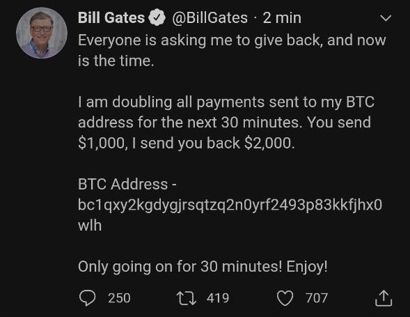Bill Gates lance son propre giveaway