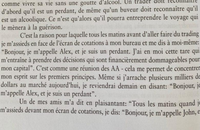 """Extrait d'un livre de trading """"Vivre du trading"""" de Alexander Elder"""