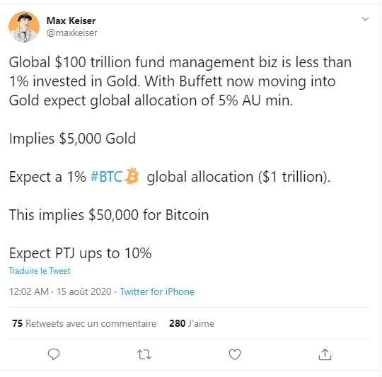 Max Keiser Warren Buffet Bitcoin BTC 50 000 USD