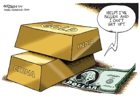 Indian gold vs dollar cartoon