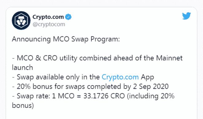 crypto.com mort MCO CRO