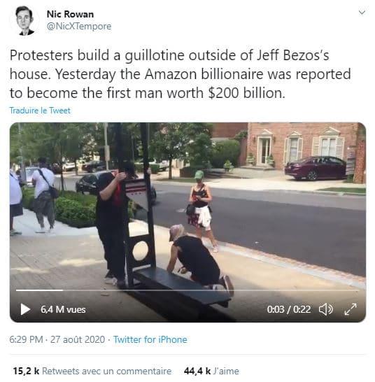 Jeff bezos guillotine
