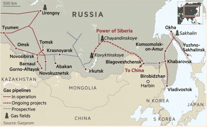 pipeline gaz russie chine