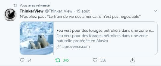 """""""Le train de vie des americains n'est pas negociable"""""""