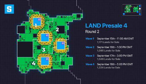 Carte représentant l'emplacement des ventes de LANDS