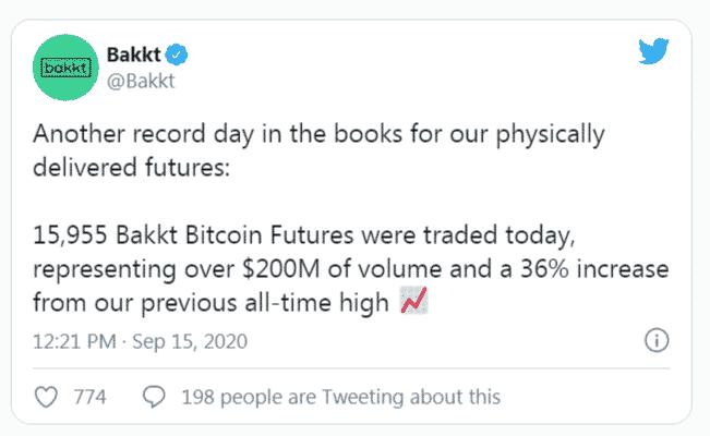 Bakkt annonce son record de volume