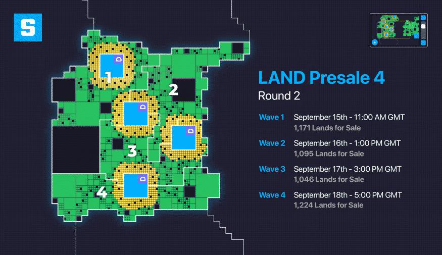 Carte présentant le déroulement de la 4ème vente sur Sandbox