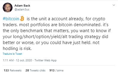 Adam Back Bitcoin BTC Tether USDT
