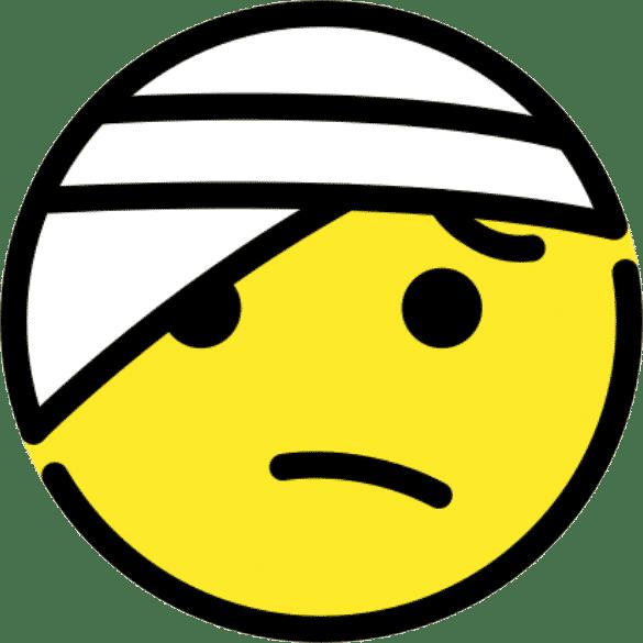 emoji blesse