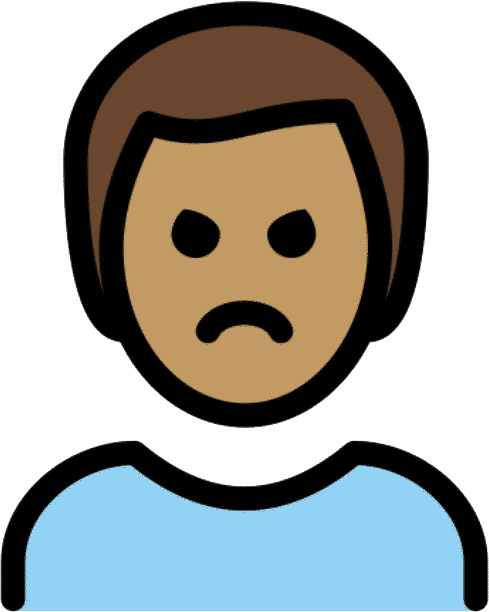 emoji pas content