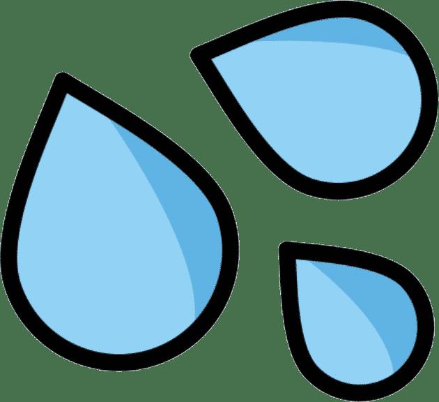 emoji goutte