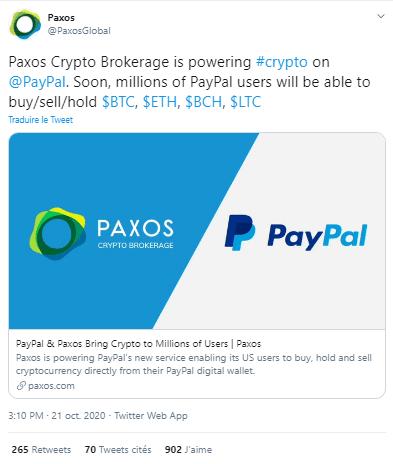 PayPal Paxos